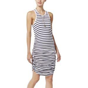 Chelsea Sky Rouched Racerback Dress Size L